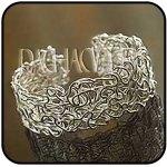 """Pulsera """"Laberinto"""" Realizada en plata 950 también dijes, collares,  anillos y aros haciendo juego Línea """"Gloria Gamio"""" Precio: USD 285/ $Arg 1277"""