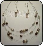 Juego de collar y aros Fantasía con perlas Precio: USD 20/ $Arg 90